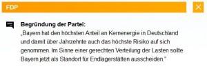 FDP und Endlager